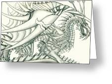 Anare'il The Chaos Dragon Greeting Card