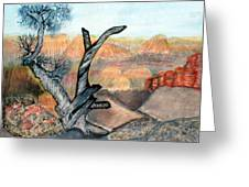 Anceint Canyon Watcher Greeting Card