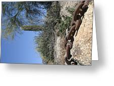 Anchor Chain In The Desert Greeting Card