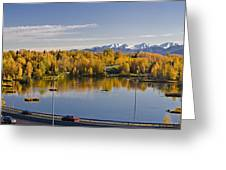 Anchorage And Westchester Pano Greeting Card