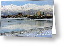 Anchorage Cityscape Greeting Card
