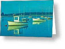 Anchored In Maine Greeting Card