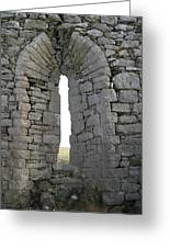 Ancient Abbey Window Ireland Greeting Card