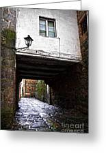 Ancient Alley In Tui Greeting Card