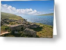 Ancient Archaeological Site On The Coast Of Crimea Ukraine Greeting Card