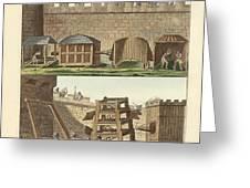 Ancient Besiegement Tools Greeting Card