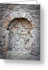 Ancient Bricked Up Window  Greeting Card