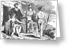 Ancient Briton, Caledonian And Irish Greeting Card