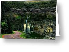 Ancient Caves And Nature Greeting Card