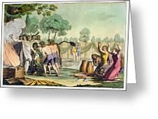 Ancient Celts Or Gauls Sacrificing Greeting Card