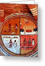Ancient Drawings Greeting Card