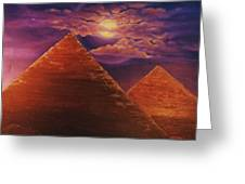 Ancient Evening Greeting Card by Terry Jackson