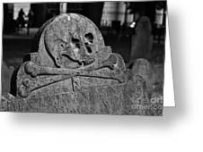 Ancient Gravestone Greeting Card