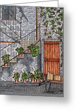 Ancient Grey Stone Residence Greeting Card