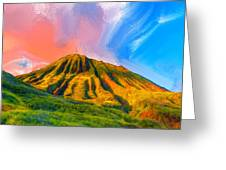 Ancient Hawaii Lava Flow Greeting Card