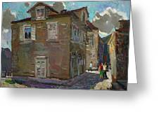 Ancient House In Perast Greeting Card