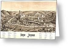 Ancient Jerusalem Map 65ad Greeting Card