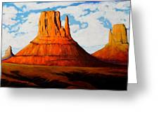 Ancient Land Monument Valley Greeting Card