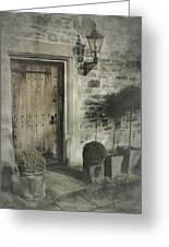 Ancient Medieval Door Greeting Card