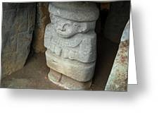 Ancient Pre-columbian Statue Greeting Card