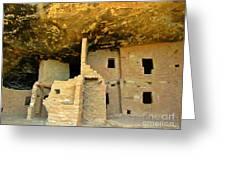 Ancient Pueblo Dwelling Ruins Greeting Card