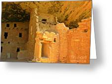 Ancient Pueblo Dwelling Ruins Two Greeting Card