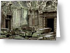 Ancient Ruins Cambodia Greeting Card