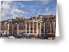 Ancient Ruins In Side Turkey Greeting Card