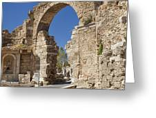 Ancient Side Entrance Gate Greeting Card