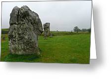 Ancient Site Of Avebury Greeting Card