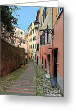 ancient street in Sori Greeting Card