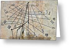 Ancient Sundial Greeting Card