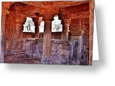 Ancient Stone Temple At Amarkantak India Greeting Card
