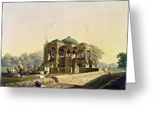 Ancient Temple At Hulwud, From Volume I Greeting Card