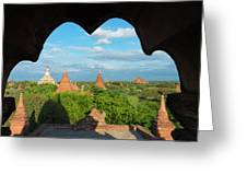 Ancient Temples And Pagodas, Bagan Greeting Card