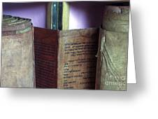 Ancient Torah Scrolls From Yemen  Greeting Card