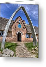 Ancient Whale's Jawbones Gate Greeting Card