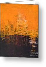 Ancient Wisdom Orange Brown Abstract By Chakramoon Greeting Card