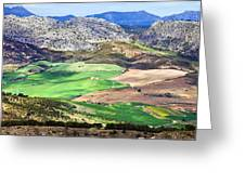 Andalucia Landscape In Spain Greeting Card