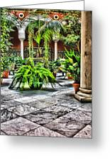 Andalusian Courtyard In Sevilla Spain Greeting Card