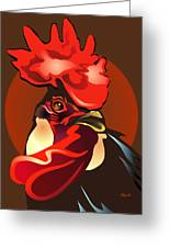Andalusian Rooster The Second Greeting Card by Patricia Howitt