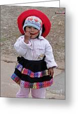 Andean Chiquita Greeting Card