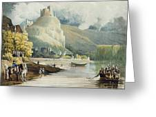 Andely, From Views On The Seine Greeting Card