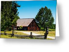 Anderson Valley Barn Greeting Card