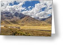 Andes Mountains - Peru Greeting Card