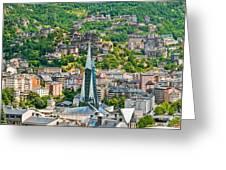 Andorra La Vella City Greeting Card