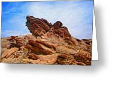 Andreas Canyon Greeting Card
