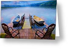 Andre's Dock Greeting Card