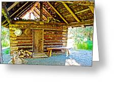 Andrew Berg's Homestead Cabin At Kenai National Wildlife Refuge In Soldotna-alaska Greeting Card