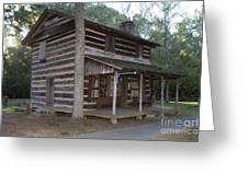 Andrew Logan Log Cabin Ninety Six National Historic Site Greeting Card